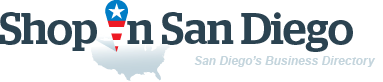 ShopInSanDiego. Business directory of San Diego - logo